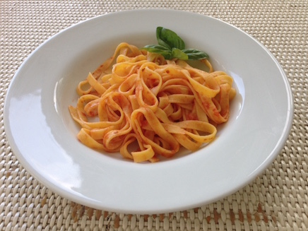 Traditional red Tagliatelle