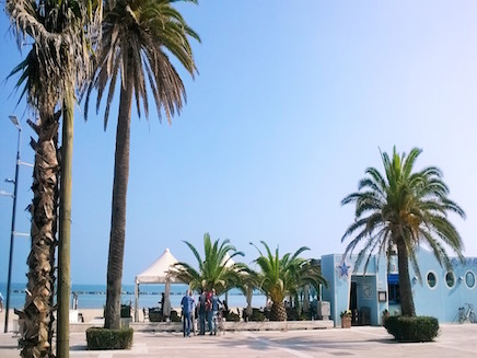 Walking on the promenade of Porto Sant'Elpidio