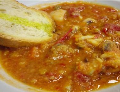 Zuppa di Seppioline e Cicerchia